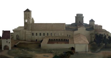 Reconstitution de l'église de Charroux