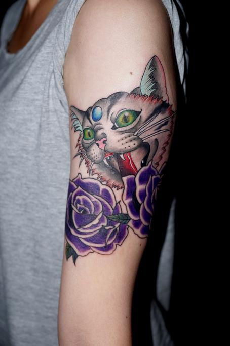 猫 タトゥー