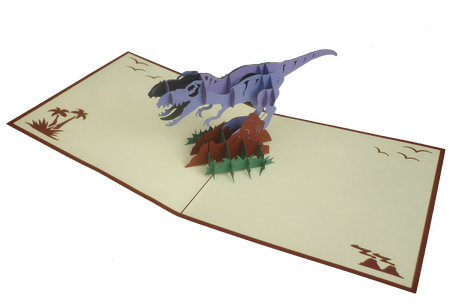 Carte pop-up Tyrex - Carte Tyrannosaure
