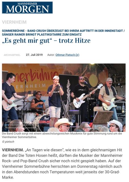 Mannheimer Morgen | 27.07.2019