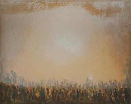 Wandern - Acryl auf Leinwand, 2004 (70x90)