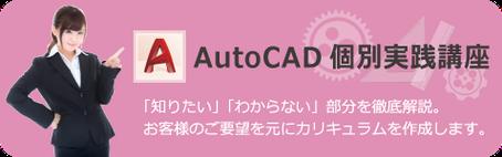 AutoCAD 個別実践講座 知りたい、わからない部分を講師が徹底解説いたします。お客様のご要望を元に