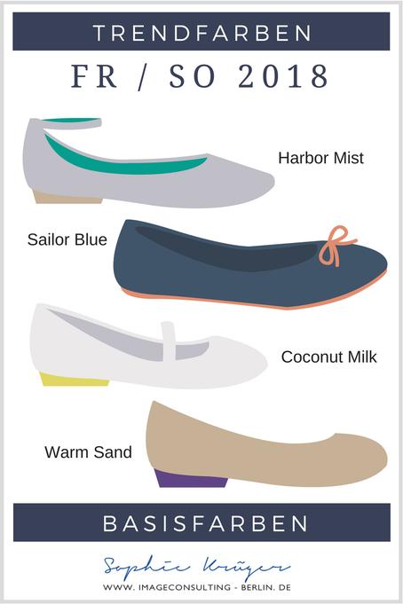 Die Trend-Basisfarben 2018 sind: Warm Sand, Coconut Milk, Sailor Blue und Harbour Mist