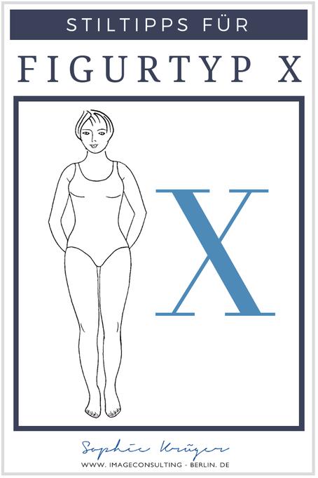 """Beim Figurtyp X sind Schultern und Hüfte gelich breit, dazwischen liegt eine deutlich ausgeprägte Taille. Häufig wird dieser Figurtyp als """"Klassikerin"""" bezeichnet."""