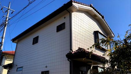 さいたま市岩槻区の戸建住宅、足場、外壁塗装、ベランダウレタン防水工事完了の写真