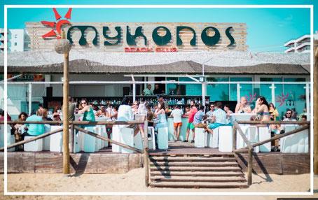Chiringuito Mykonos en Punta Umbría