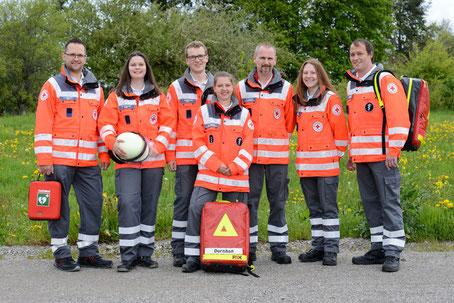 Helfer vor Ort der Bereitschaft (Foto: Kasenbacher)