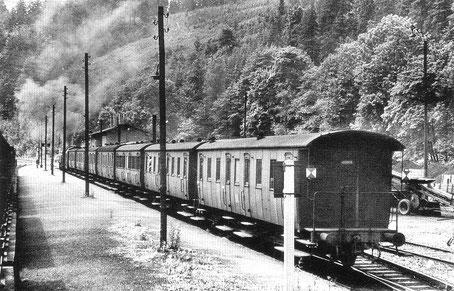 Zug von Dittersdorf nach Kemtau 1965 © FHWE