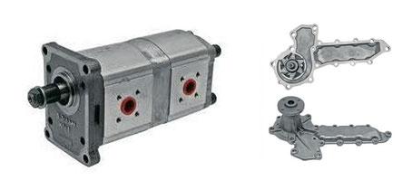 pompes hydrauliques et moteur pour engins TP kubota