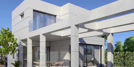 Villa en construcción por Pacheco & Asociados en La Manga Club