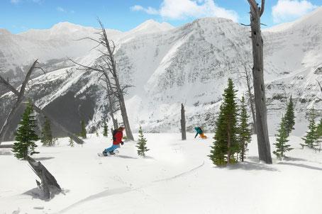snowboarding at Castle Mountain Pincher Creek