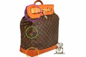 contrefacon sac steamer bag Louis Vuitton secret d'expert