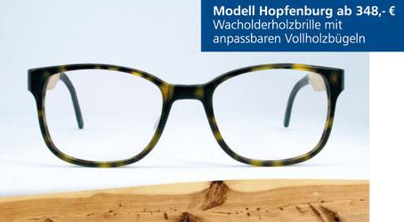 Wacholderholz-Brille Modell Hopfenburg