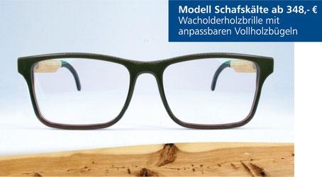 Wacholderholz-Brille Modell Schafskälte
