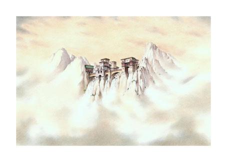 fantasy art, fantasy drawings, drawings by Spanish artists, fantasy landscapes