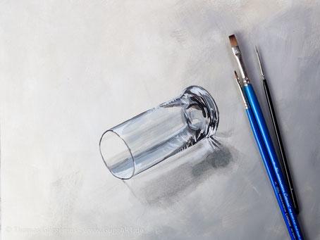 Glas malen in Acryl - Realistisch malen mit Acrylfarben