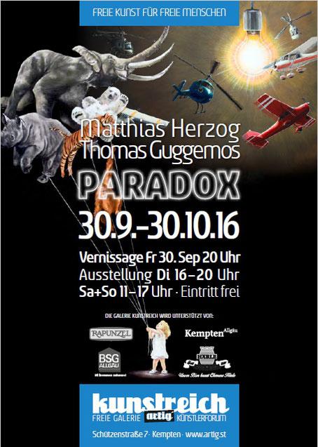 Paradox, Ausstellung, Guggemos, Herzog, Kunstreich, Kempten