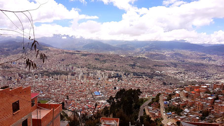 Vue générale de la ville de La Paz Bolivia