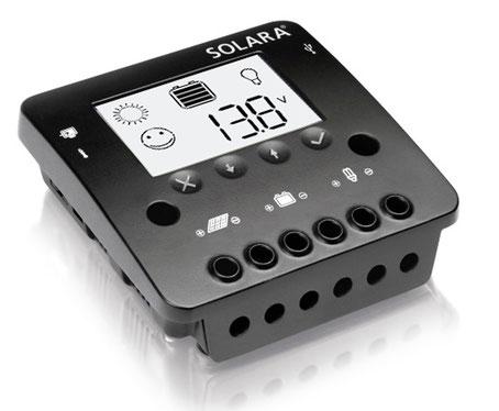 SOLARA Regler SR350DUO kann mit einer Solaranlage gleichzeitig die Wohnraum- und Starter- (Motor-) batterie geladen werden.