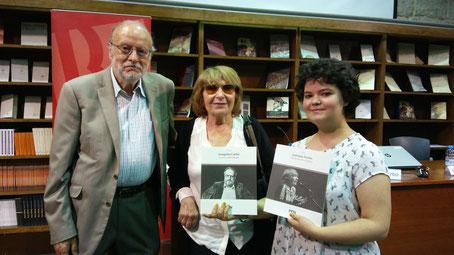 D'esquerra a dreta: Joaquim Carbó, Antònia Vicens i Mixa