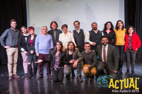 Los participantes en la presentación del documental 'Vicálvaro, más que un pueblo' (Imagen obtenida de la web rivasactual.com)