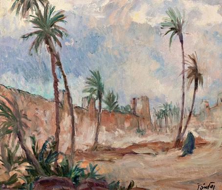 Henri Jean Pontoy - Vent de sable à Marrakech