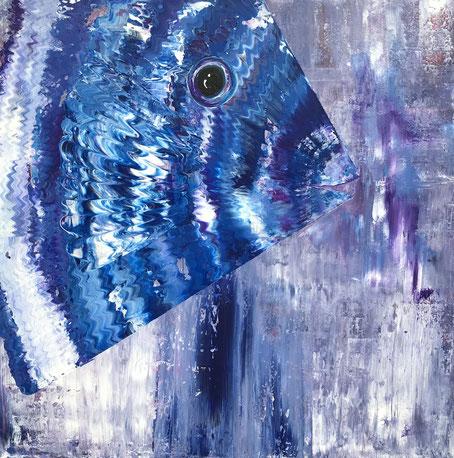 Fisch mit Lila 100 x 100