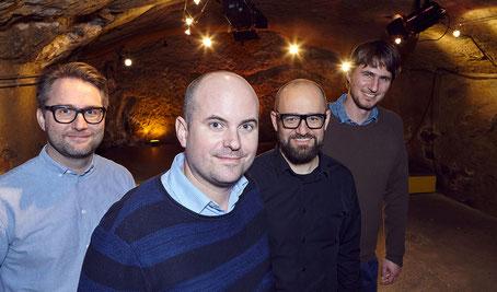 Bild vier Organsiatoren Im Schtei, Konzertkeller Sempach