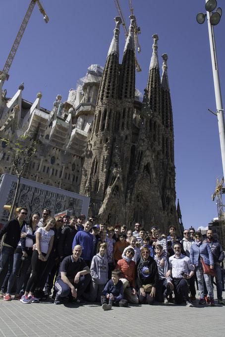 La foto di gruppo alla Sagrada Familia - Roberta Cravero ph.