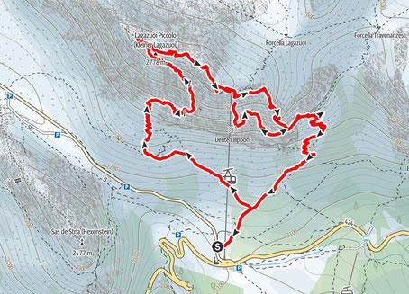 Kleiner Lagazuoi, Kaiserjäger Steig, Stollen, Martiniband, Dolomiten