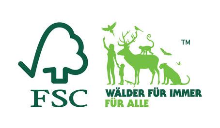 """FSC® Logo """"Wälder für immer - für alle"""" bei Holzwerk PS"""