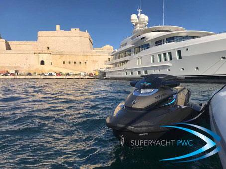 superyacht pwc jetski