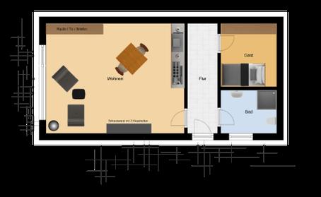 43 Qm Wohnung Leo Fewo Weller