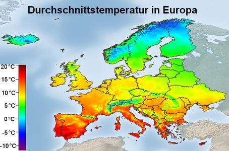 Durchschnittstemperatur Europa für Cannabis Sorten