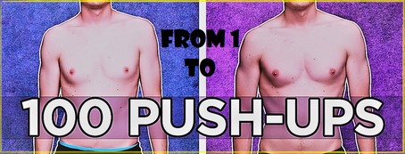 Going from one to one hundred push-ups in a row