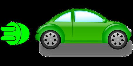 Clipart eines Elektoautos