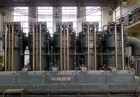 Kraftwerksanlage Snder Bisamberg, Grazer-Hesselman-Motor