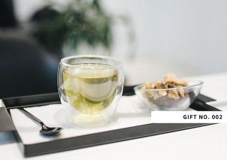アロマ&リンパドレナージュサロン max day spaのおもてなし2、トリートメント後にお出しするお茶
