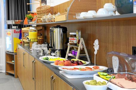 Hotel mit Buffet Frühstück