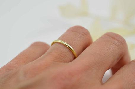 alliance femme or jaune 18 carats