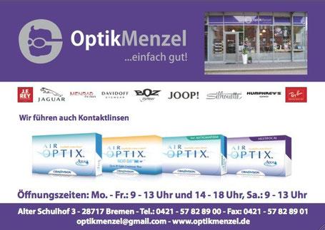 Optik Menzel - Wir fuehren auch Kontaktlinsen