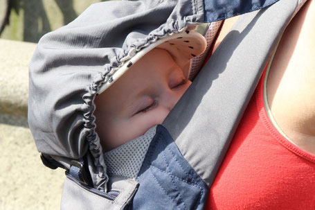 Baby Carrier used for sleeping