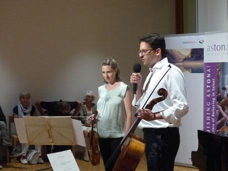"""Esther Hoppe und Christian Poltéra am Galakonzert """"30 Jahre Astona"""" vom 21.7.2017"""