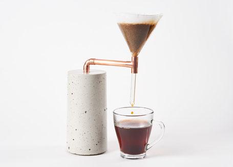 Beton Kaffeezubereiter für Pour Over Filterkaffee
