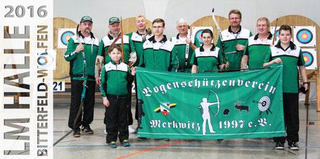 BSV Merkwitz Gruppenfoto - FITA LM-Halle am 23.01.2016 in Bitterfeld-Wolfen
