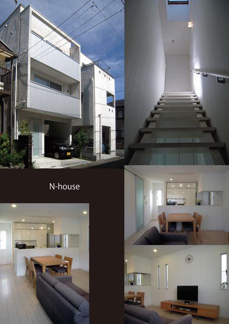 木造3階建て、外観、内観