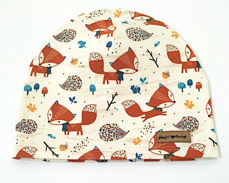 Hapitime Babymütze Bio handmade Fuchs