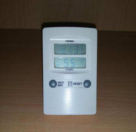 Temperatur bei ca. 21°C