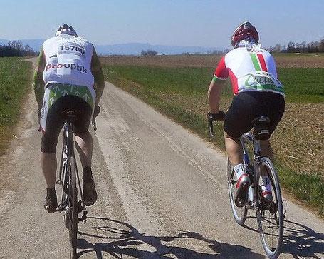 ...und immer den grün-weiß-roten Ciclistas folgen.       Bild: Armin H.