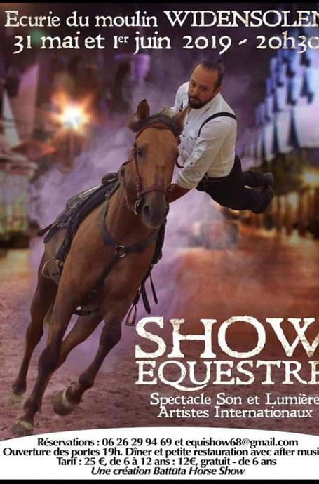 Plakat Battuta Horse Show 2019